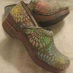 Brown Floral Dansko Vegan shoe